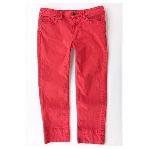 Tommy Hilfiger Red Crop Jeans